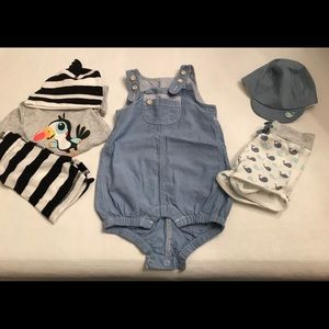 Three sets of H&M infant outfits